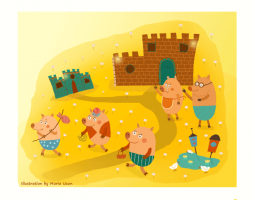 The three little pigs - by Maria Uzun